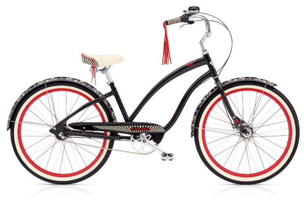 Cruiser-Bike Electra Bicycle Queen of Hearts 3i Ladies 2018