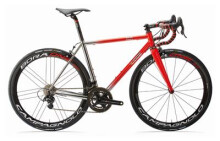 Rennrad Cinelli XCR Rahmenset red