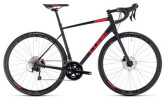 Rennrad Cube Attain SL Disc black´n´red