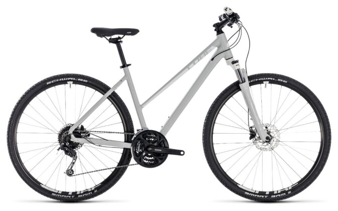 Crossbike Cube Nature Pro bright grey´n´white 2018