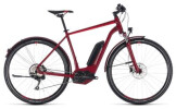 E-Bike Cube Cross Hybrid Pro Allroad 400 darkred´n´red