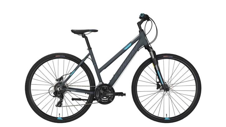 Crossbike Conway CS 301 Trapez grey matt/blue -44 cm 2018