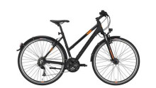 Trekkingbike Conway CC 400 Trapez black matt/orange -48 cm