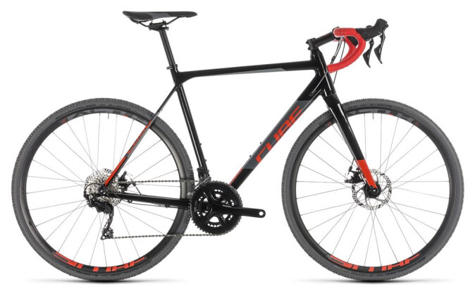 Rennrad Cube Cross Race black´n´red 2019