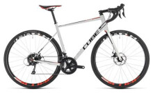 Rennrad Cube Attain Pro Disc white´n´red