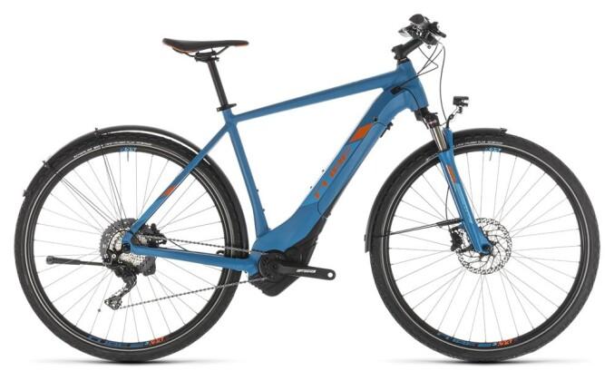 E-Bike Cube Cross Hybrid Race 500 Allroad blue´n´orange 2019