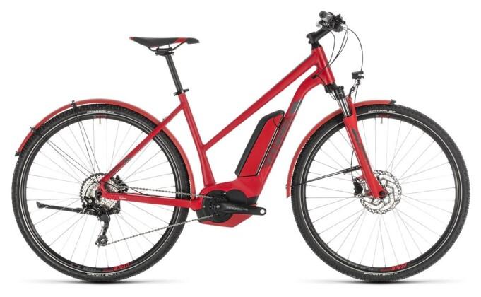 E-Bike Cube Cross Hybrid Pro 400 Allroad red´n´grey Trapez 2019