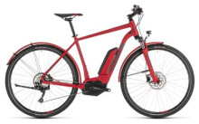 E-Bike Cube Cross Hybrid Pro 400 Allroad red´n´grey