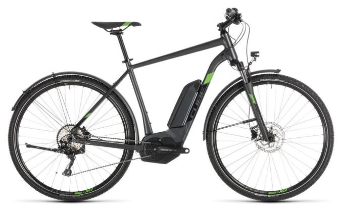 E-Bike Cube Cross Hybrid Pro 500 Allroad iridium´n´green 2019