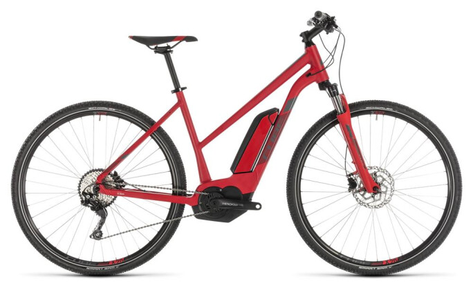 E-Bike Cube Cross Hybrid Pro 500 red´n´grey Trapez 2019