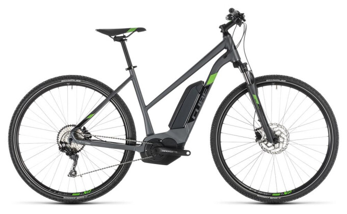 E-Bike Cube Cross Hybrid Pro 500 iridium´n´green Trapez 2019