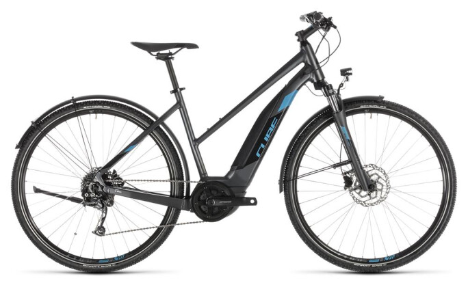 E-Bike Cube Cross Hybrid ONE 400 Allroad iridium Trapez 2019