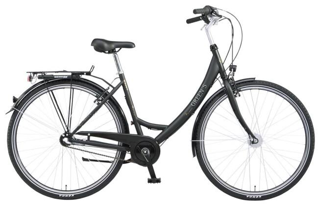 Citybike Green's Essex black 2019