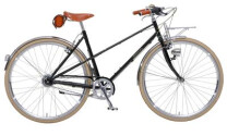 Green's Bradford black Mixte