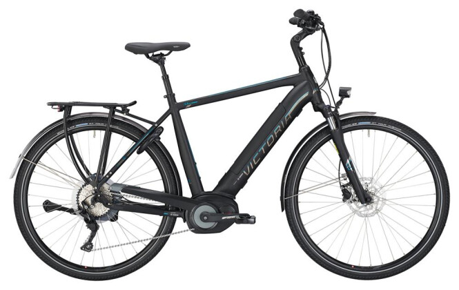 E-Bike Victoria eTrekking 12.8 Herren black matt/blue 2019