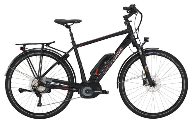 E-Bike Victoria eTrekking 8.8 Herren black matt/red 2019