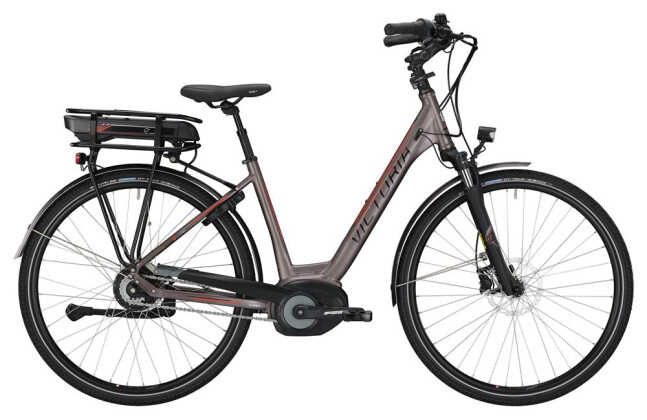 E-Bike Victoria eTrekking 7.9 Wave grey matt/red 2019