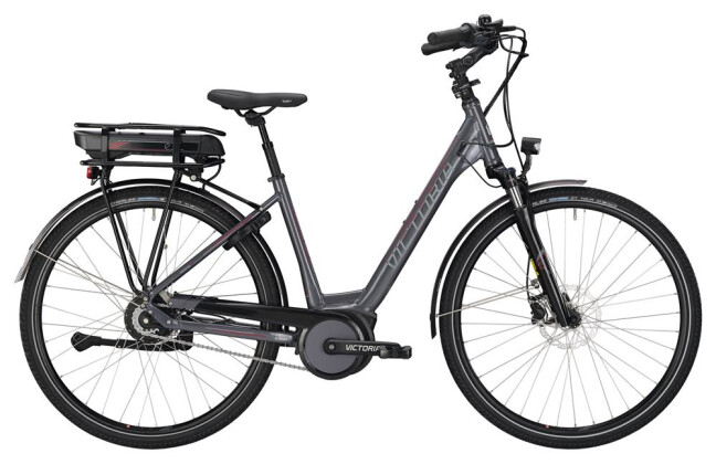 E-Bike Victoria eTrekking 7.8 Wave nickelgrey/darkred 2019
