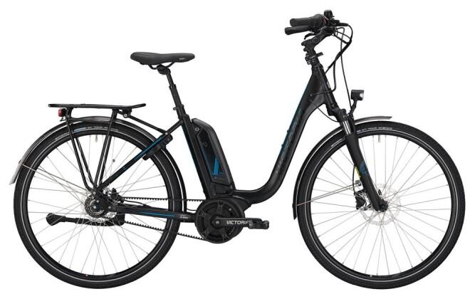 E-Bike Victoria eTrekking 7.7 Deep black matt/skyblue 2019