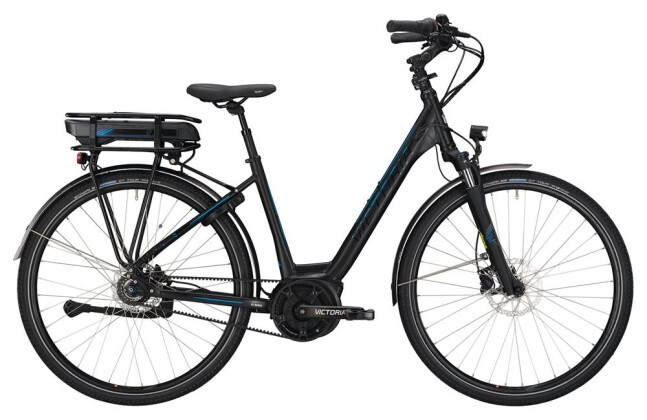 E-Bike Victoria eTrekking 7.7 Wave black matt/skyblue 2019
