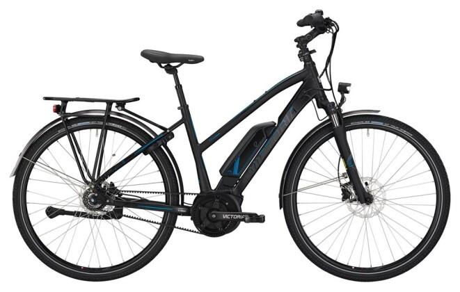 E-Bike Victoria eTrekking 7.7 Trapez black matt/skyblue 2019