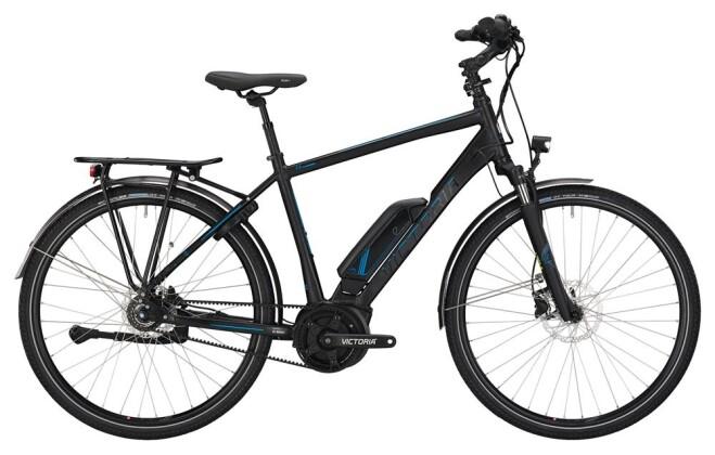 E-Bike Victoria eTrekking 7.7 Herren black matt/skyblue 2019