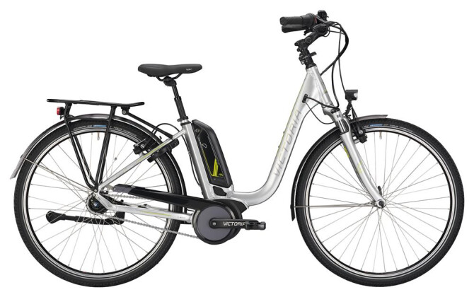 E-Bike Victoria eTrekking 7.4 Deep silver/lightapple 2019