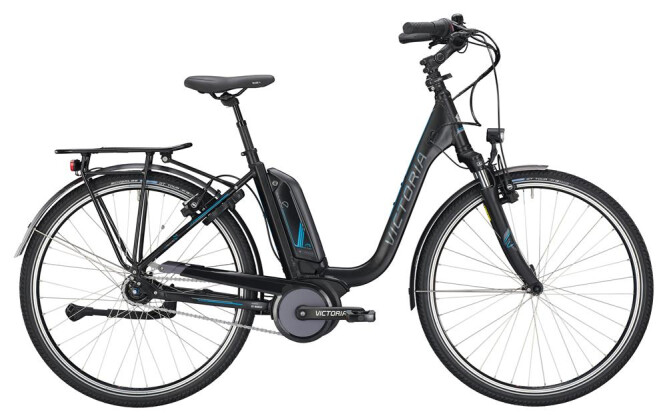 E-Bike Victoria eTrekking 7.4 Deep black matt/blue glossy 2019