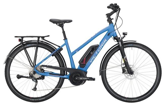 E-Bike Victoria eTrekking 6.4 Trapez jeansblue/shinewhite 2019