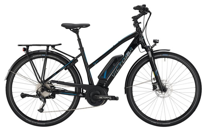 E-Bike Victoria eTrekking 6.3 Trapez black/skyblue 2019