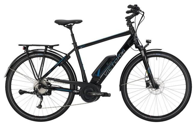 E-Bike Victoria eTrekking 6.3 Herren black/skyblue 2019
