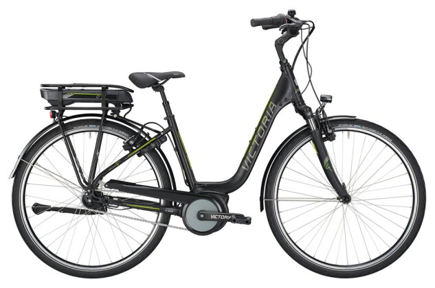 E-Bike Victoria eTrekking 5.9 SE Deep black matt/limegreen 2019