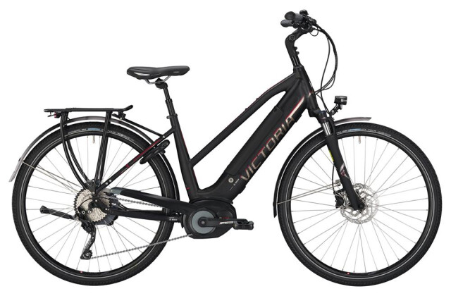E-Bike Victoria eTrekking 12.8 Trapez black matt/red 2019