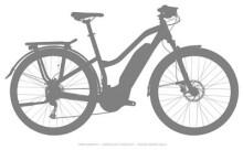 E-Bike Haibike SDURO Trekking 4.0 Damen Grau