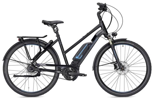 E-Bike Falter E 9.8 FL Trapez schwarz/blau matt 2019