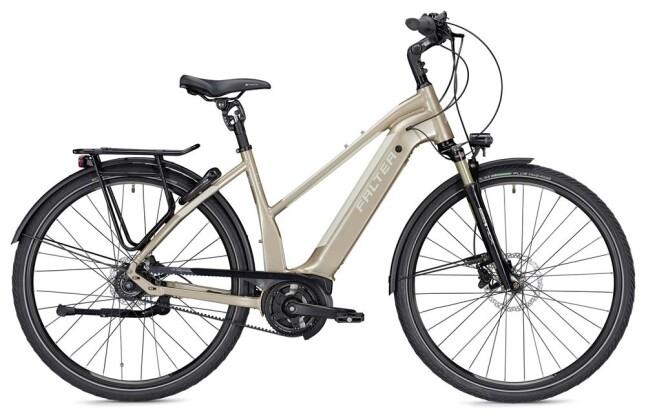 E-Bike Falter E 9.9 RT Trapez champagner/weiß 2019