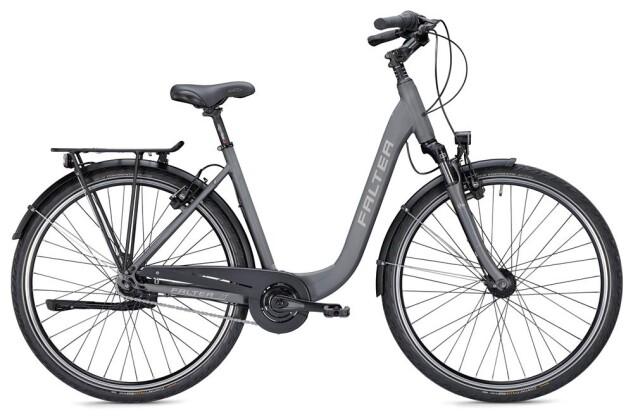 Citybike Falter C 4.0 Plus Wave titanium/blau matt 2019