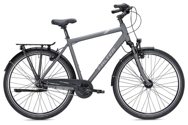 Citybike Falter C 4.0 Plus Herren titanium/blau matt 2019