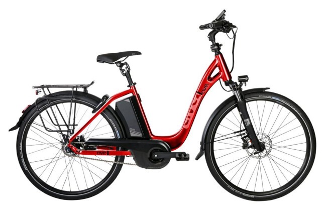 "E-Bike AVE TH9 26"" NX8 RBN Di2 rubin red 2019"