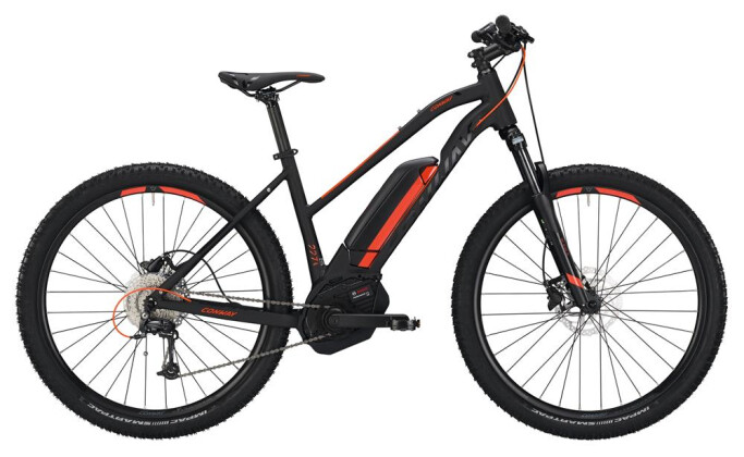 E-Bike Conway eMS 227 SE 500 Trapez black matt/orange 2019