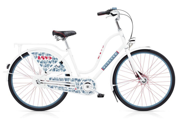 Hollandrad Electra Bicycle Amsterdam Love 3i Ladies' White 2019