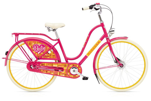 Hollandrad Electra Bicycle Amsterdam Joyride 7i Ladies' BRIGHT PINK 2019