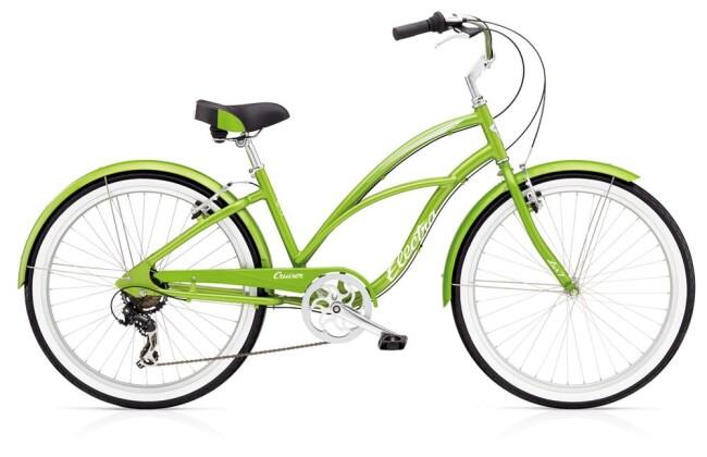 Cruiser-Bike Electra Bicycle Cruiser Lux 7D Ladies' Green Metallic 2019