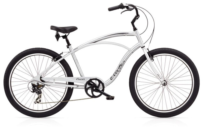 Cruiser-Bike Electra Bicycle Cruiser Lux 7D Men's Silver 2019