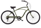 Cruiser-Bike Electra Bicycle Cruiser 7D Men's Matte Khaki