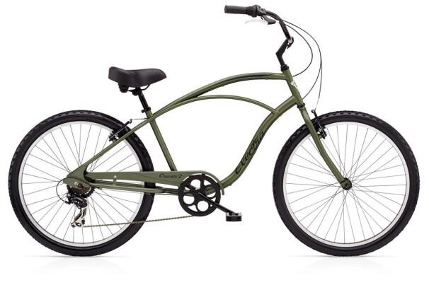 Cruiser-Bike Electra Bicycle Cruiser 7D Men's Matte Khaki 2019