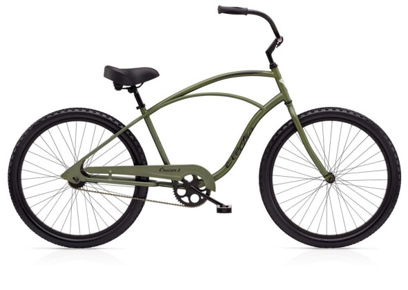 Cruiser-Bike Electra Bicycle Cruiser 1 Men's TALL Matte Khaki 2019