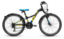 Kinder / Jugend S´cool XXlite steel 24 21-S black/yellow matt