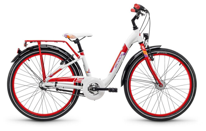 Kinder / Jugend S´cool chiX alloy 24 3-S white/red 2019