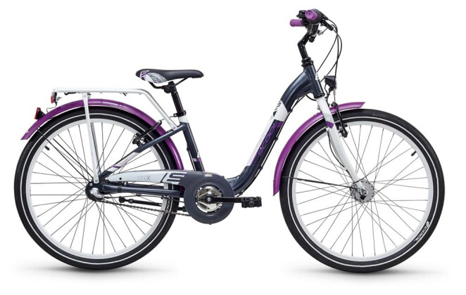 Kinder / Jugend S´cool chiX alloy 24 3-S darkgrey/violett matt 2019